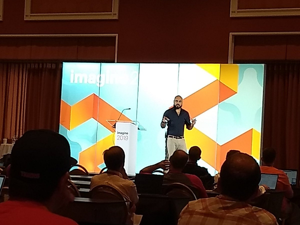 aleron75: This is @_Talesh speaking about security at #MagentoImagine https://t.co/xf8NopR97J