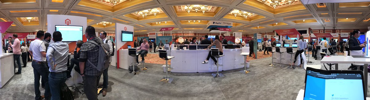 _D_Crockett: Hanging out at the Adobe booth for a while nnGet at me if you wanna talk Amazon Sales Channel nn#magentoimagine https://t.co/DMn4cs8Bqk