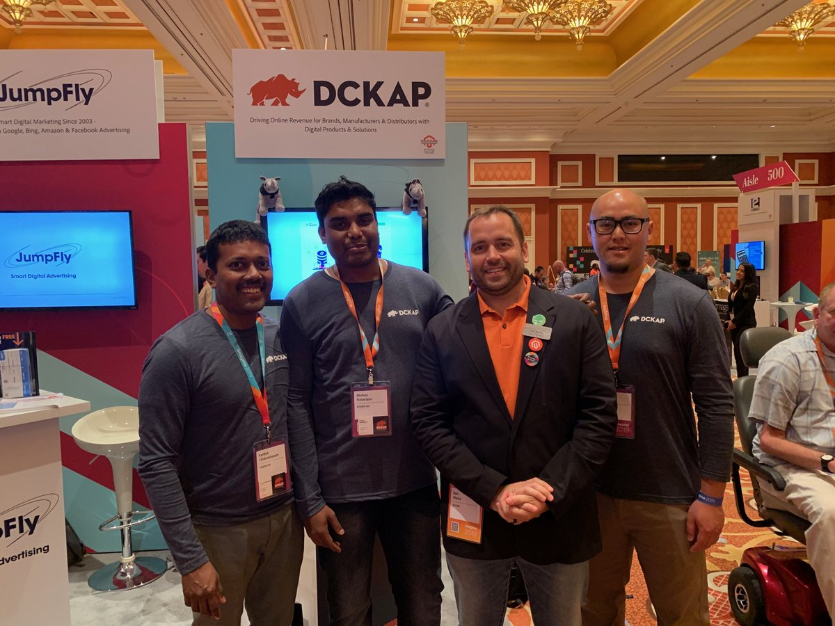 DCKAP: Look who stopped by our Booth. The one and only @benmarks #MagentoImagine Thanks Ben. https://t.co/imp3VnFFdh