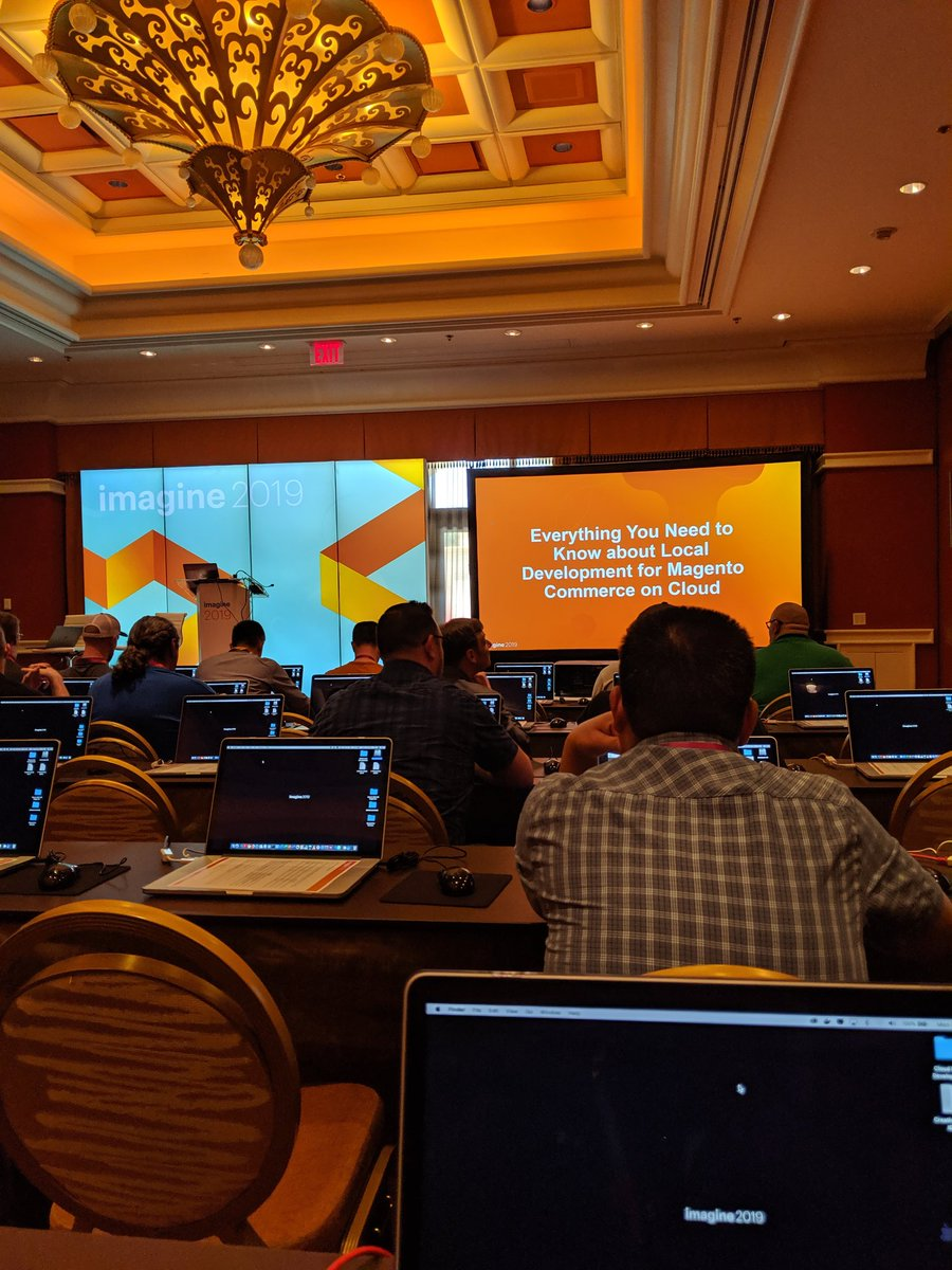 jasonevans1: The Magento commerce cloud lab is about to start. Excited to see how this goes.  #MagentoImagine https://t.co/tGbbEjTfTz
