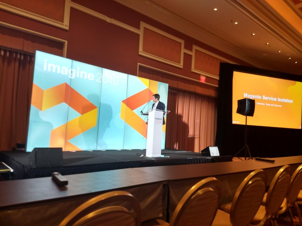 aleron75: The mighty @iminyaylo is going to start speaking about service isolation on #MagentoImagine stage, don't miss out! https://t.co/74tW7Je0LS