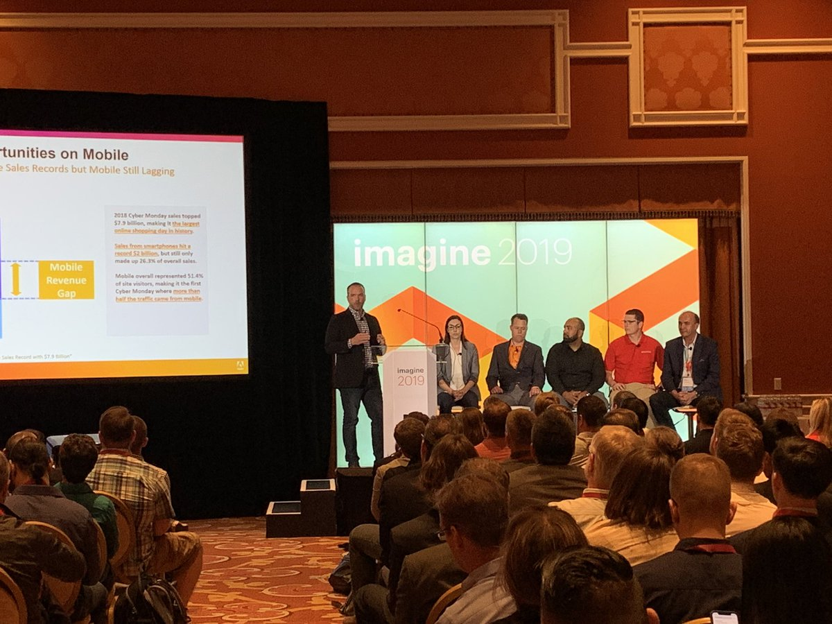 LaurenMayGould: Learn how to drive more revenue on mobile. Head to Lafleur 1 now! #MagentoImagine @RobEcommerce https://t.co/v6FQ7y7E0q