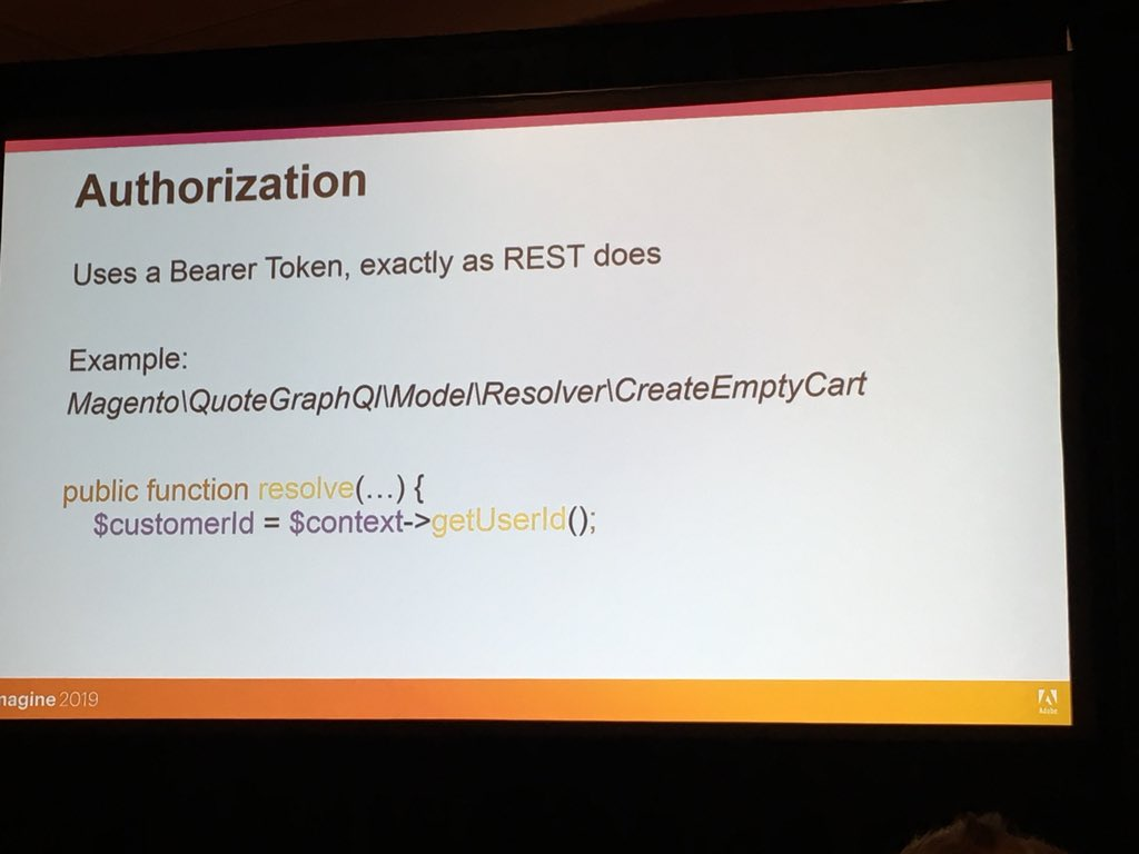 SergiiShymko: You can use auth tokens interchangeably for REST and GraphQL in #magento2. #MagentoImagine https://t.co/ae9WvH3i9d