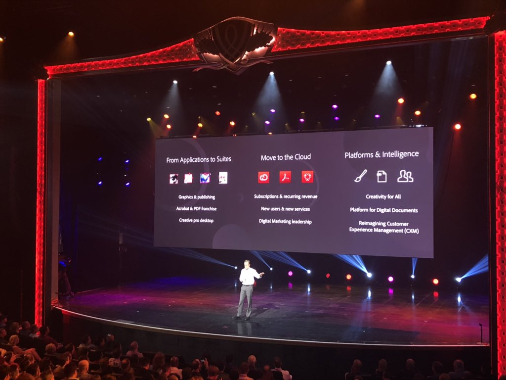 vaimoglobal: #MagentoImagine Rob Giglio on stage sharing the @Adobe transition and growth journey https://t.co/ZMm8rIU1Rq