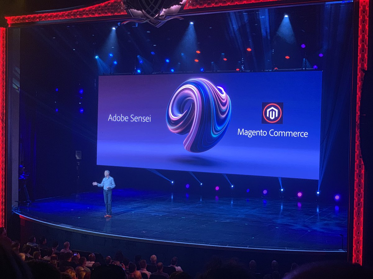 lewissellers: Adobe Sensei being bundled into Magento Commerce. 👌 #MagentoImagine https://t.co/LxqYphLX0e