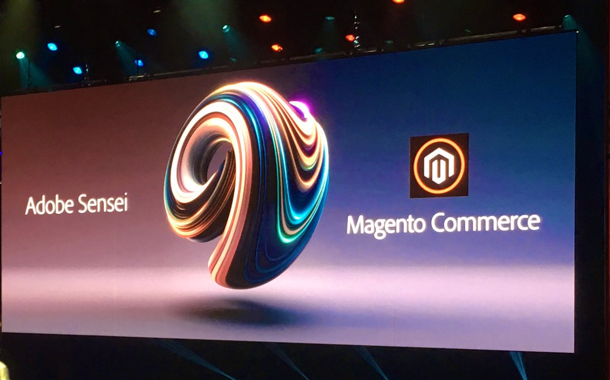 sonjarierr: Question: is the circle ⭕️ now part of the Magento logo? 🤔 #MagentoImagine https://t.co/wIEwlTru4G