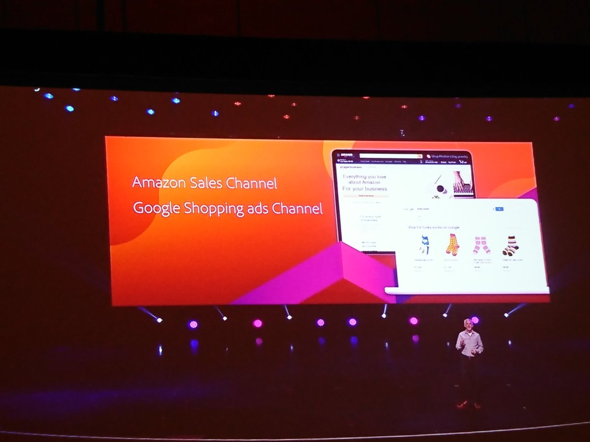 richbaik: .@amazon Sales Channel and @Google Shopping Ads Channel also coming to @magento Commerce! #MagentoImagine https://t.co/NdpkxrVAm5