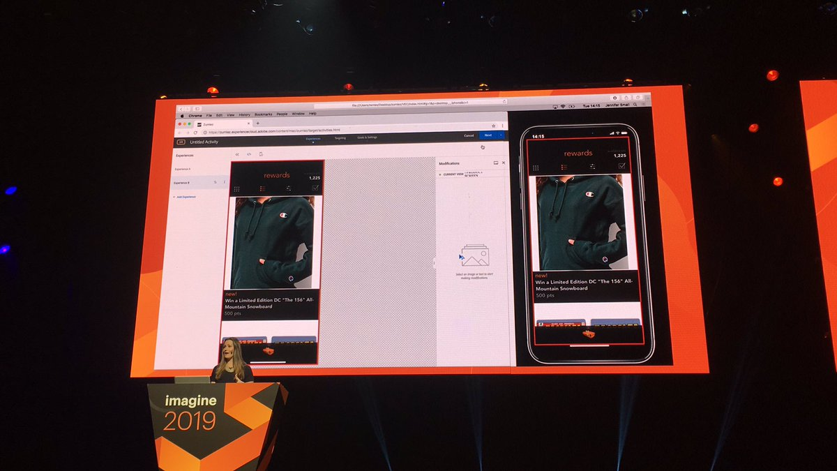 blackbooker: Live demo using AEM to update SPAs or to modify mobile apps. Neat! #MagentoImagine https://t.co/w7AMs4w7jX