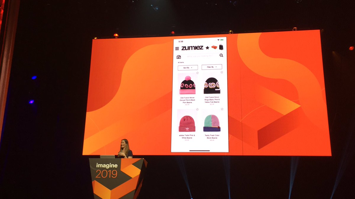 blackbooker: She just scanned a hat *on stage* to pull it up on Zumies  site. Woah! #MagentoImagine https://t.co/fNa3nOkDFr