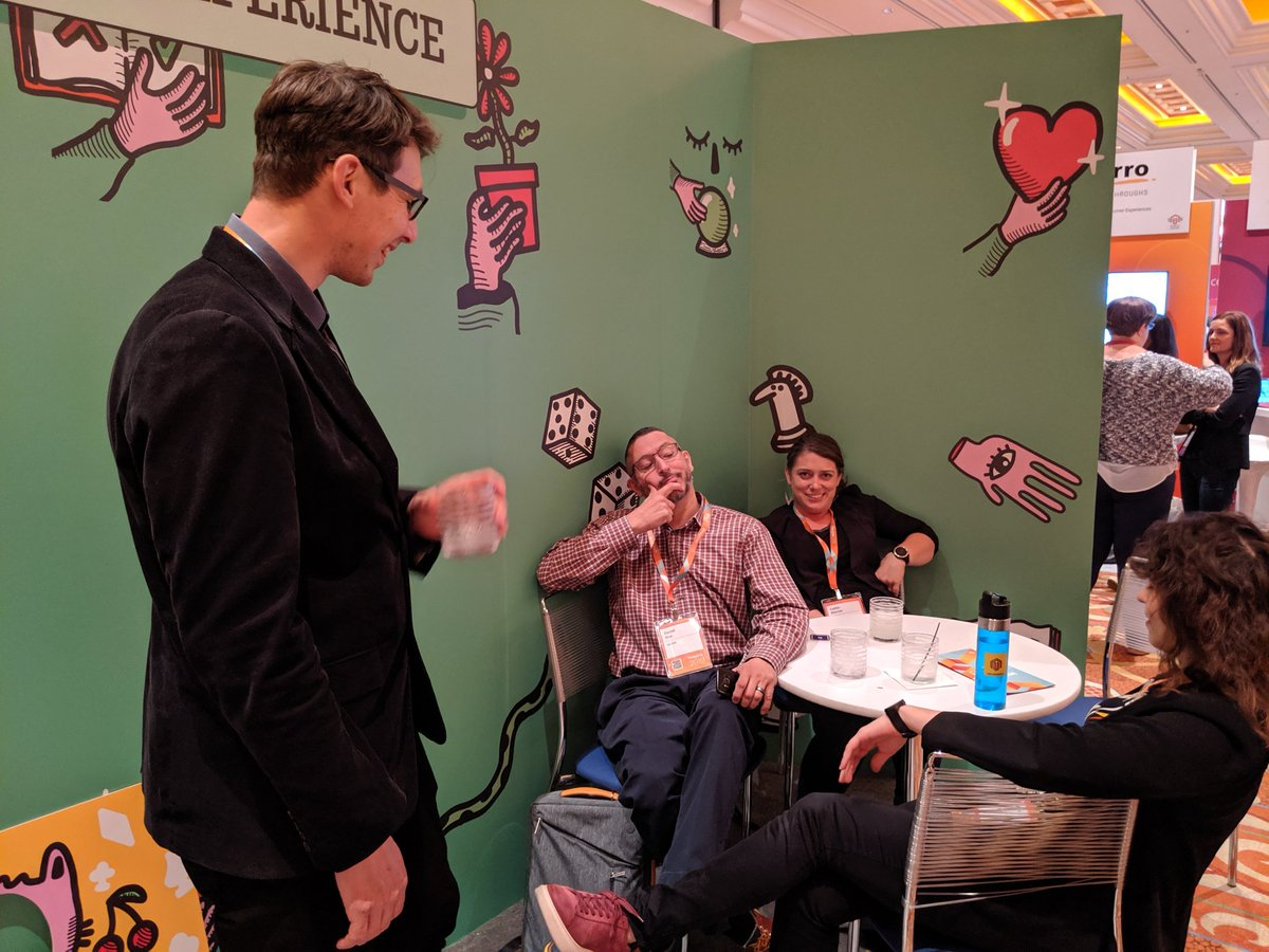 belbiy: Some serious user research interviews are going on here... #MagentoImagine #Imagine2019  @realcmacrae @PeterMintchev https://t.co/RQAPmx0zEn