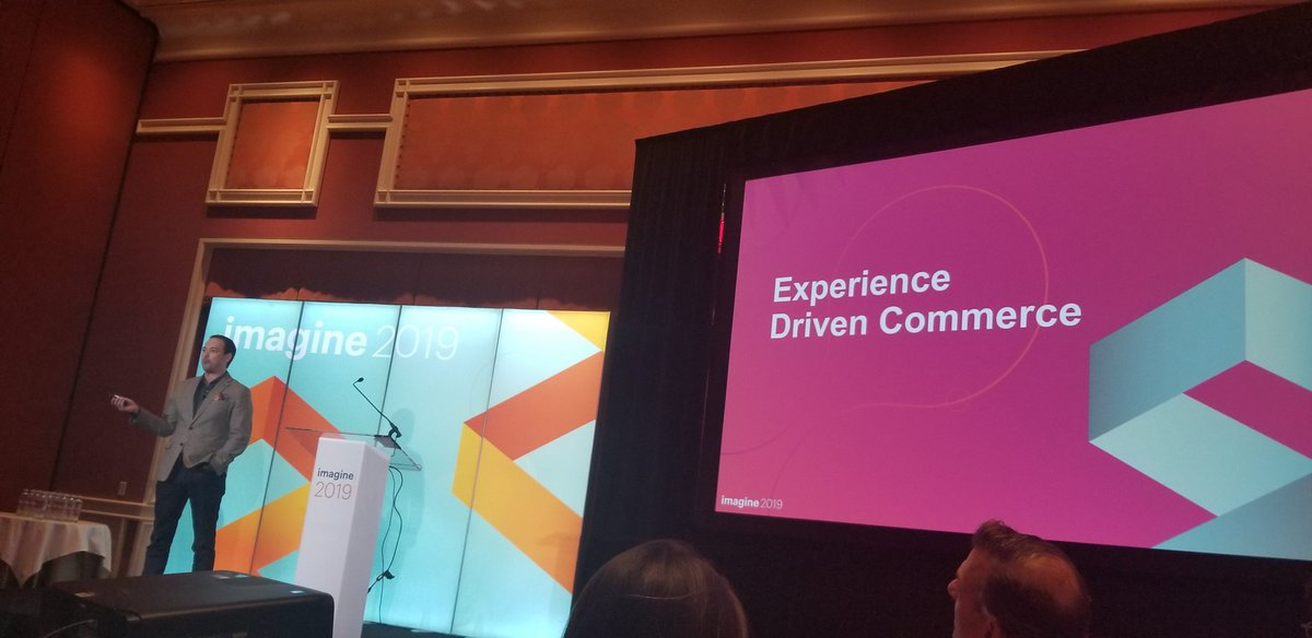 RubioAdrianaL: Our very own Co CEO, Kevin Eichelberger, defining Experience Driven Commerce at #MagentoImagine https://t.co/HEEEJCgo60