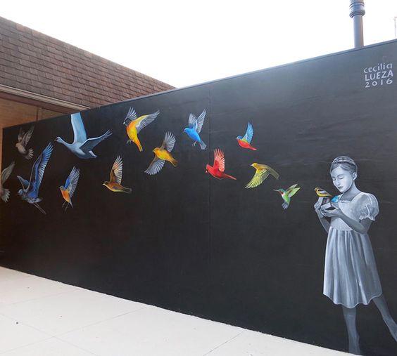 Be a rebel, be yourself!Take your dream and leave your mark!Goodmorning! Cecilia Lueza #Marion #StreetArt #Art #Birds #Graffiti #Goodmorning #Rebel #BeYourself #writerscommunit #LeaveYourMark #FollowYourHeart #UrbanArt #Colors #Mural #BeBrave #BreakTheWall #SprayArt #Dreamer https://t.co/ShimLxSl4Y