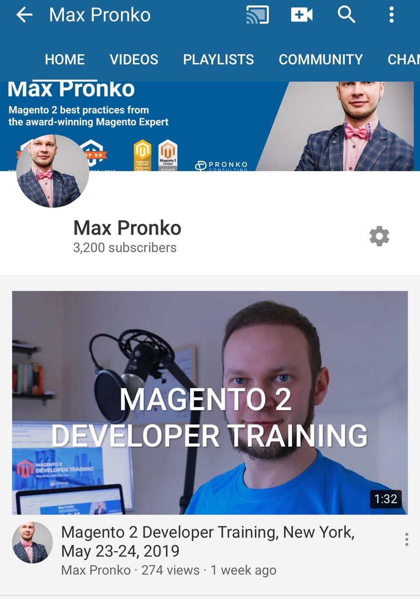 max_pronko: 3200 subscribers. I can't believe I am seeing this number. Thank you for the support #MagentoImagine #magento https://t.co/ufdwKdytDR