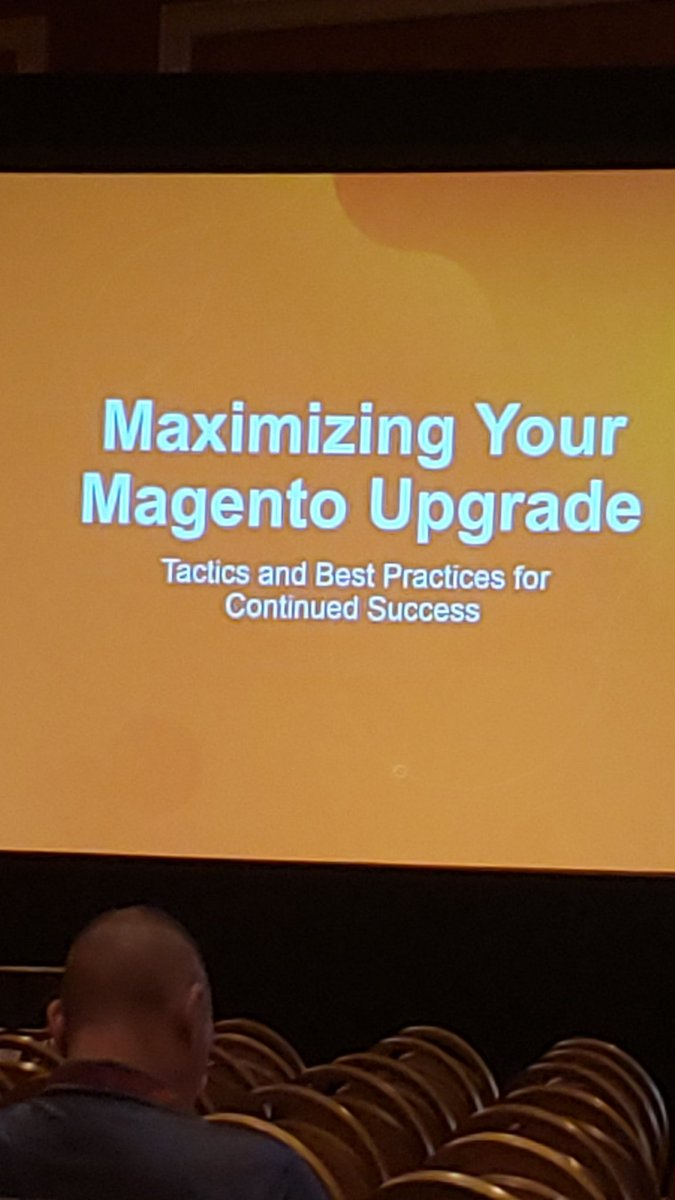 MagentoDevDocs: About to learn more about upgrades for our merchants, experiences, tips and pitfalls at #MagentoImagine! https://t.co/Fw9b1AtGCw