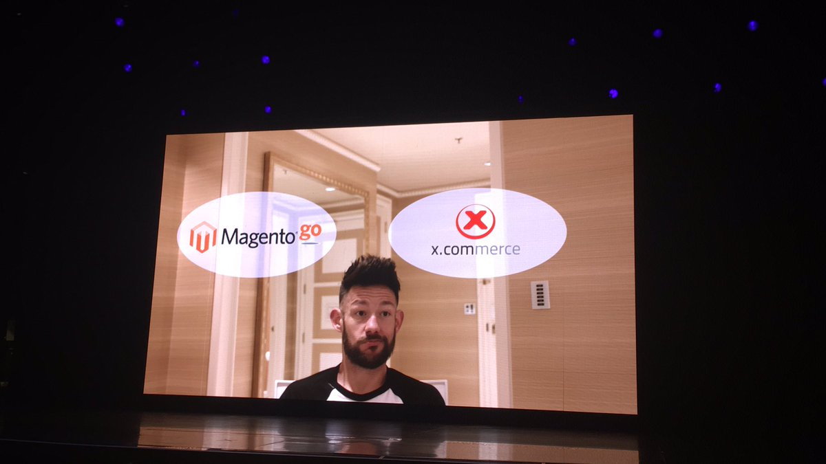 blackbooker: Did he just say Magento Go?! 😮 And then he Thanos'd it!! @philwinkle #MagentoImagine https://t.co/eHqRiuep5O