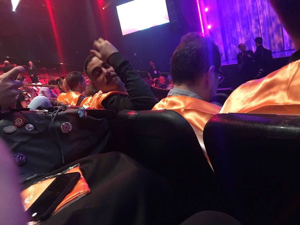 mbalparda: There is a bunch of weirdos with capes at the Encore theater, idk what they are up to 🤷♂️n#MagentoImagine https://t.co/9N8kZXoUGn