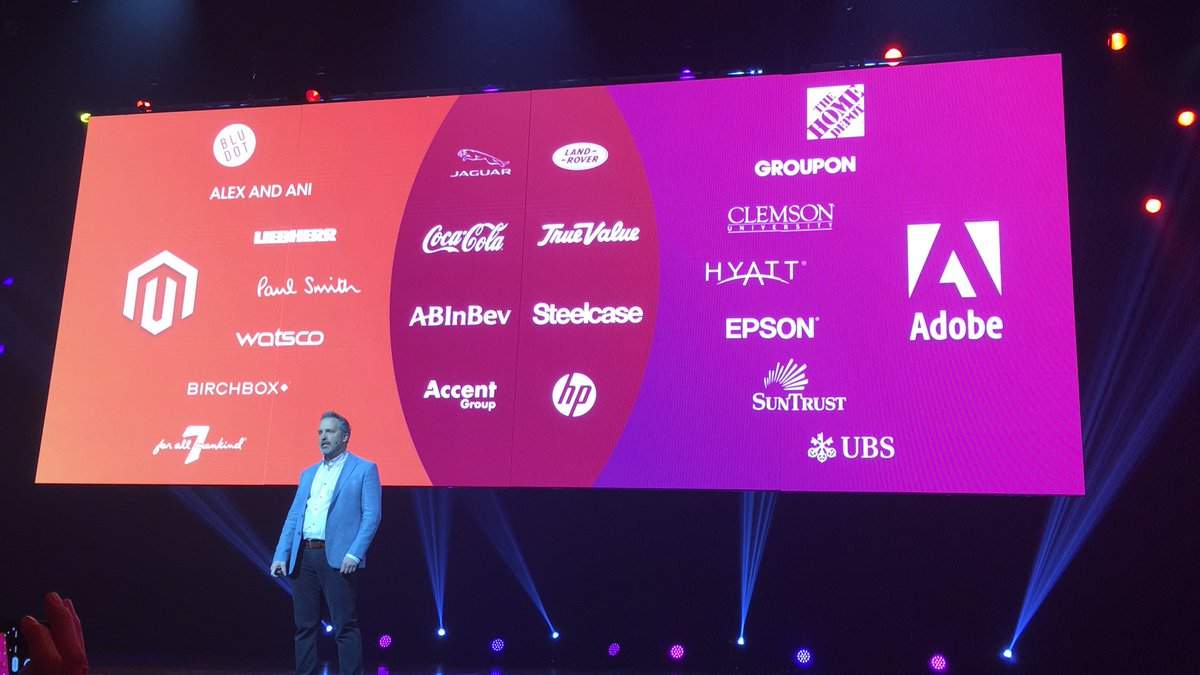 blackbooker: These brands are doing incredible things, transforming CX, with @magento  #MagentoImagine https://t.co/yjukdSVOty