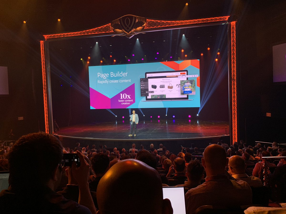 HelloMacaulay: Oh yeah! Hi Page Builder on the big stage #MagentoImagine https://t.co/G0DfZpZM5g