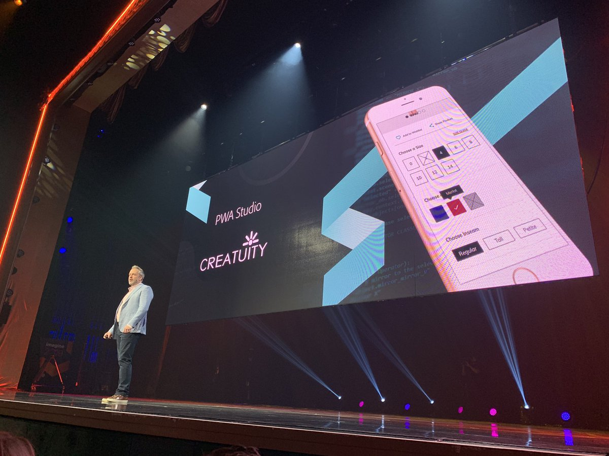 di_pola: Now this is a shout out! Well done @Creatuity #PWA #MagentoImagine https://t.co/0CBL06PrqK