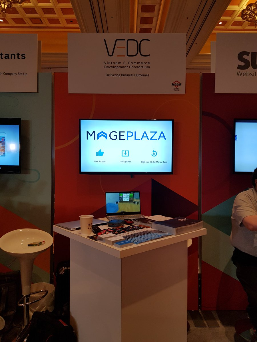 mageplaza: Good morning from booth 602n#MagentoImagine #MagentoImagine2019 #mageplaza https://t.co/KrQZCxfBXH