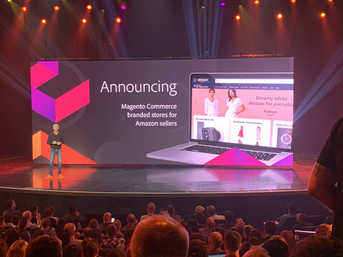 brentwpeterson: Amazon Branded stores on @Magento Commerce! #MagentoImagine This is available now! https://t.co/f2UtTbTh1D