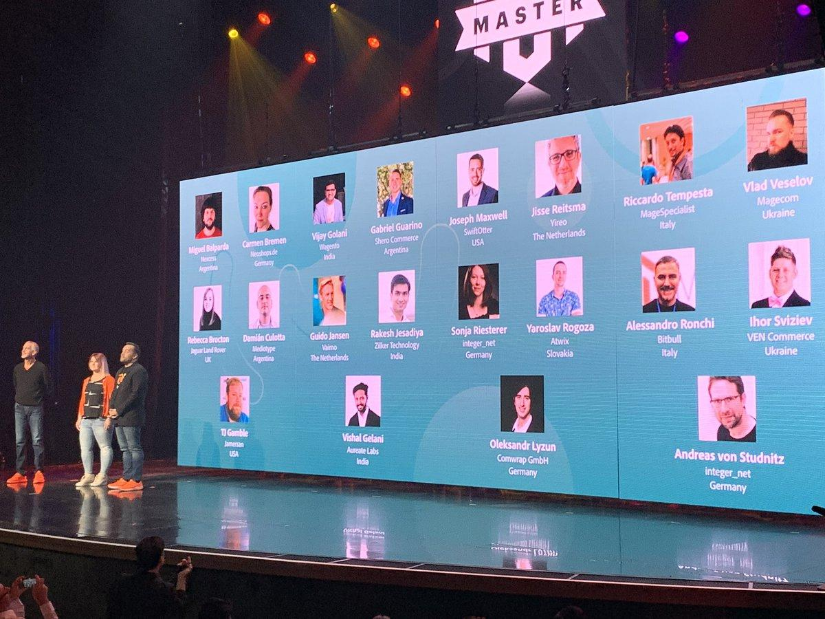 WebShopApps: Let's give a round of applause to this year's #Magento Masters 👏 Congrats to everyone! #MagentoImagine https://t.co/6G3ZKxfiZD