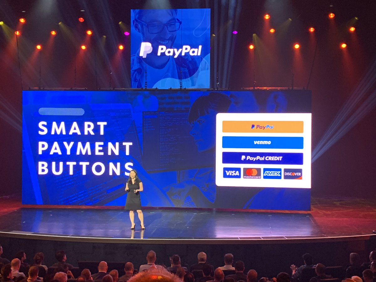 brentwpeterson: New Smart payment buttons from @Paypal are reducing friction for Checkout  #magentoimagine https://t.co/wDjzWYvYhU