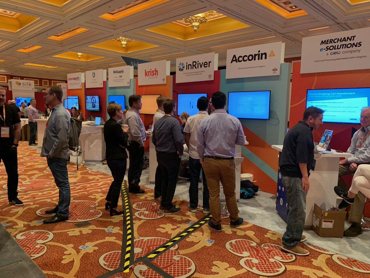 accorin_agency: B2B purchase approval module demos happening all day at booth 623 #MagentoImagine2019 #MagentoImagine #b2b https://t.co/ougCEN4lro
