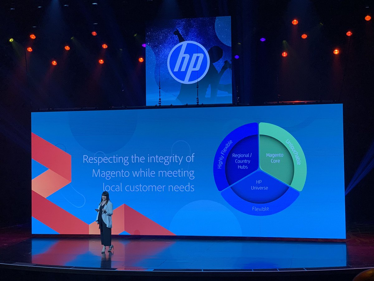 HelloMacaulay: A @benmarks approved slide about HP respecting the Magento core, it's untouchable #MagentoImagine https://t.co/EepqiMw7C5