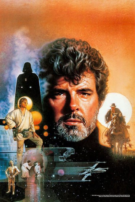 Happy Birthday to George Lucas! Art by Drew Struzan