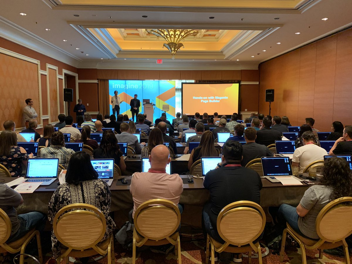 HelloMacaulay: Our wildly popular Page Builder labs session is about to kick off! #MagentoImagine https://t.co/3gxS7tpLIB