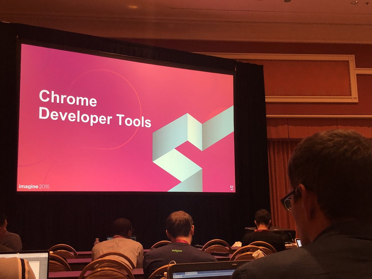 wsakaren: This is great - 20 min session on chrome dev tools, come join, mouton or something like that #MagentoImagine #google https://t.co/xIJh6AIquv
