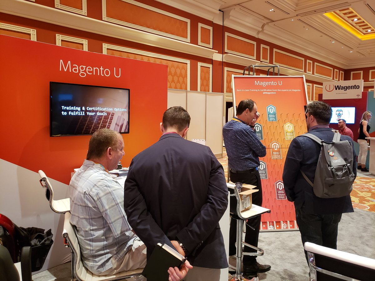 magento: Learn something new from @MagentoU! Stop by the @Adobe + #Magento booth at #MagentoImagine to learn more. https://t.co/cMpXBFFOZo