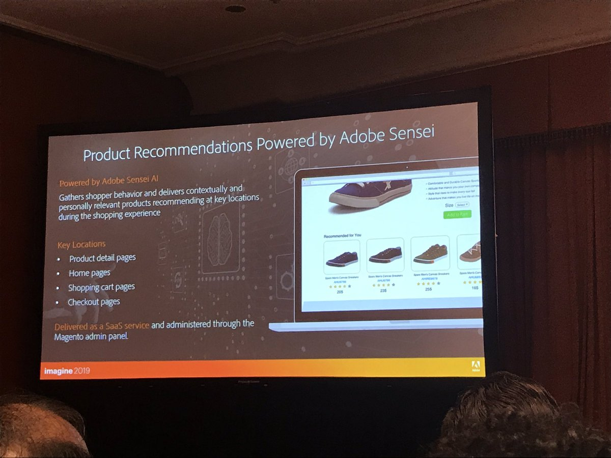 Space48ers: Adobe AI powered product recommendations soon to be available to all Magento Commerce customers #MagentoImagine https://t.co/WHyj2qyo3J