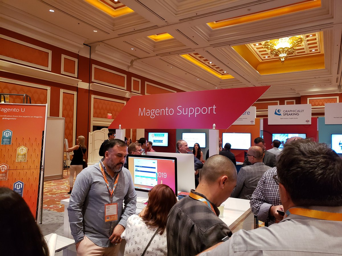magento: Magento Support is also available the @Adobe + #Magento booth at #MagentoImagine 🧡 https://t.co/JVQBMWooyg