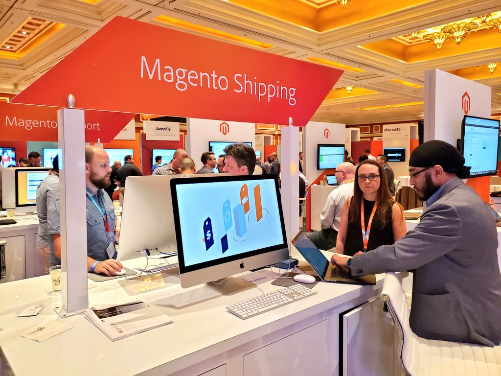magento: Learn more about Magento Shipping & Magento Marketplace @MagentoMP at the @Adobe + #Magento booth. #MagentoImagine https://t.co/hFHQBIWMR9