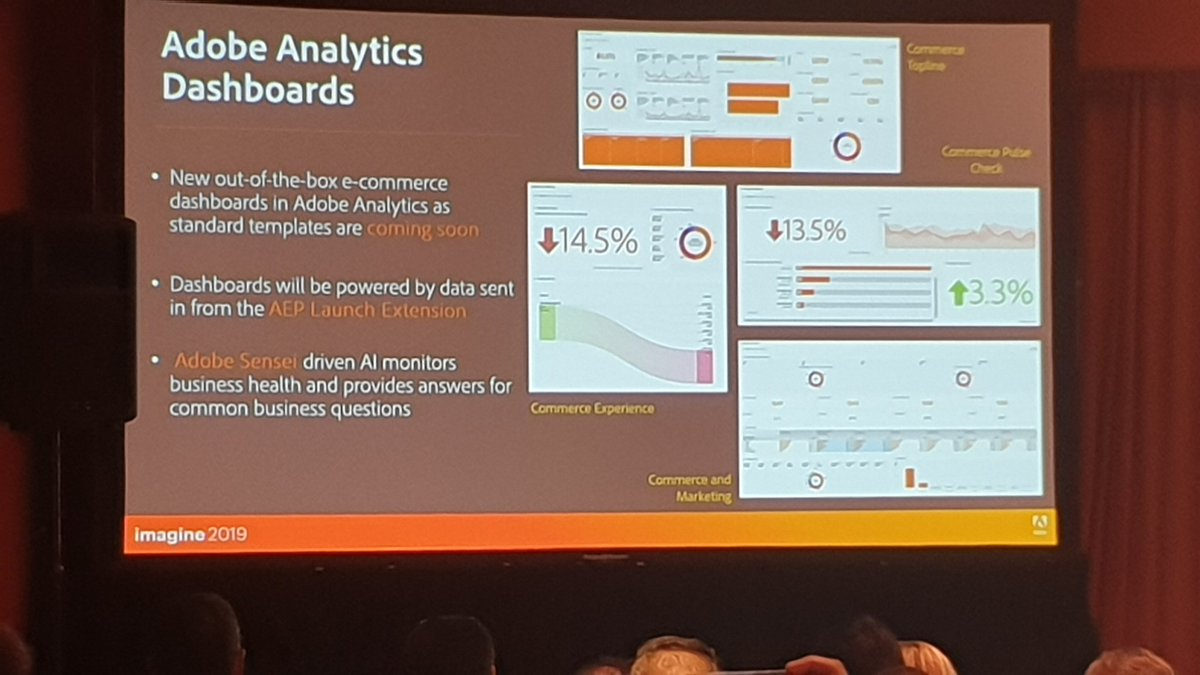 guido: Later this year Adobe Analytics will feature specific eCommerce dashboards. Neat! #MagentoImagine https://t.co/l1GbrPq7J8