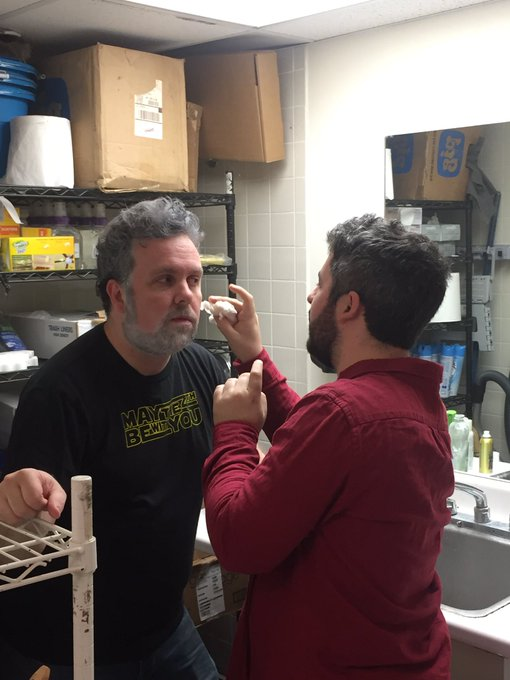 Happy 75th birthday to my friend, George Lucas. Thank you for letting me do your makeup every month.