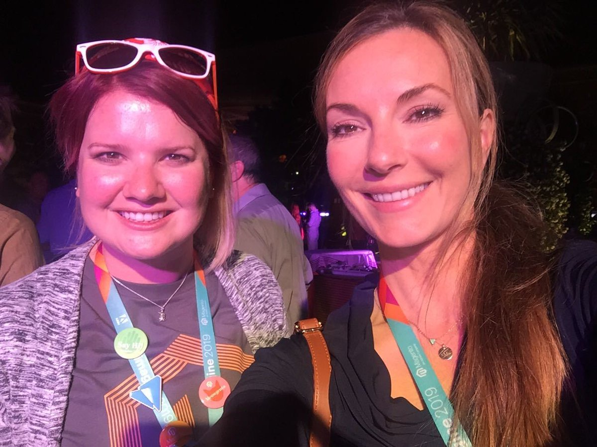 CooperHarris: Somehow @sherrierohde found me at #MagentoImagine - thanks @morgan_sacco for connecting us!!! https://t.co/izWfb1cdGy