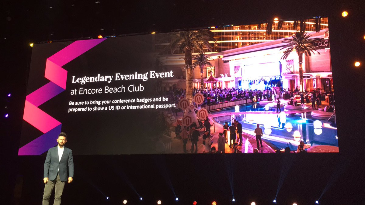 blackbooker: PSA: Bring your badge AND photo ID to the legendary party at Encore Beach Club!  #MagentoImagine https://t.co/ijcMzUEWll