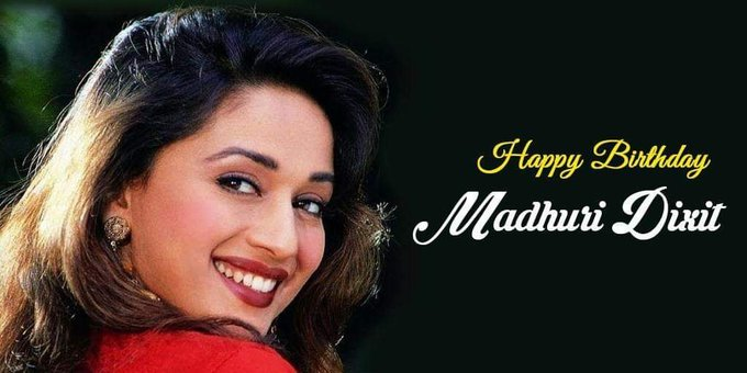 Happy birthday to my favourite actress Madhuri Dixit Love u guys yar