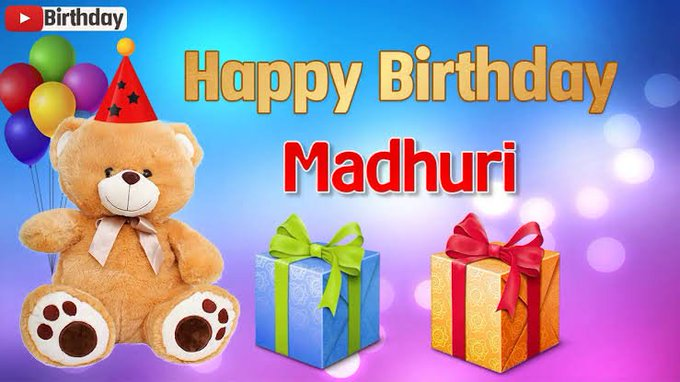 Happy birthday Madhuri dixit- Nene Many many happy returns of the day.