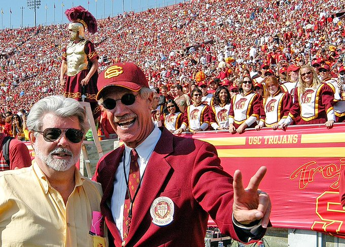 Happy Birthday to the great Trojan alumnus George Lucas pictured here with the inspiration for Emperor Palpatine.