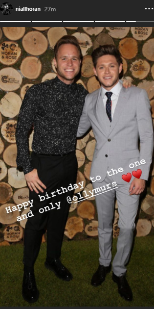 Niall\s ig story - Happy birthday Olly Murs!