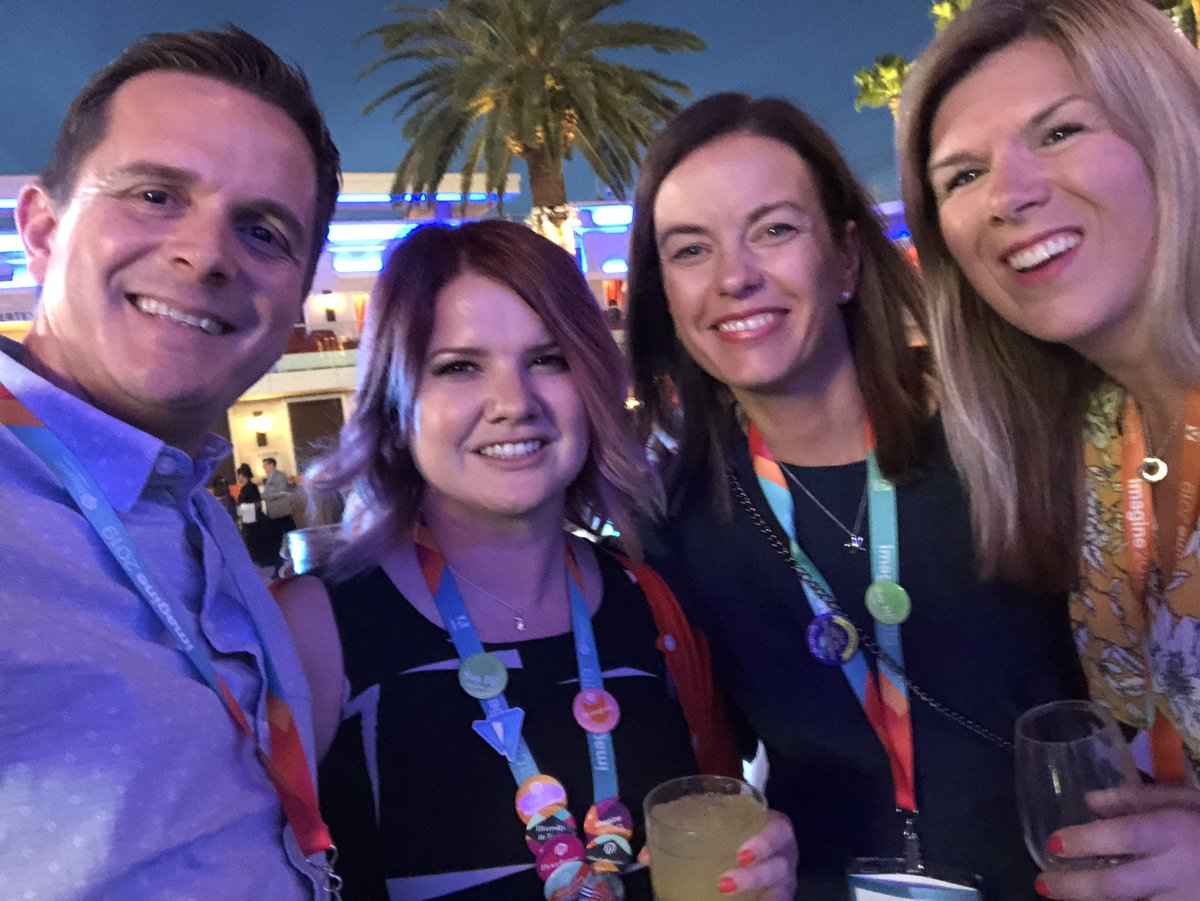 sherrierohde: Found @CarpKyle @BlueJalappeno and @wsaJane at the Legendary party! #MagentoImagine https://t.co/ZccBpAH9OO