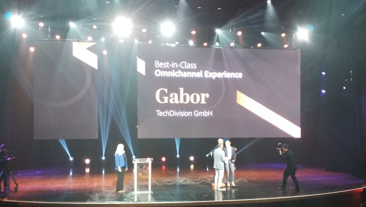 cmuench: @TechDivision Congratulations for the award for the Gabor shop project. #MagentoImagine. #GermanEngineeringPower https://t.co/YsiCj9Zz1J