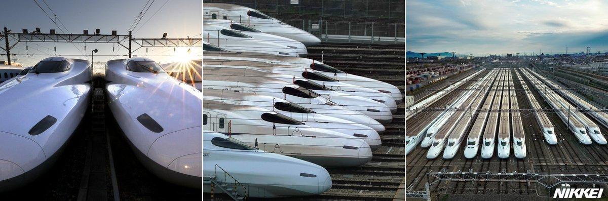 test ツイッターメディア - 新幹線で新大阪駅から京都駅に向かう途中、左の車窓からJR東海の新幹線鳥飼車両基地が見えます。白い車両がずらりと並ぶ基地をさまざまなアングルから撮影しました。   記事はこちら   https://t.co/wfleEuP6e1   「NIKKEI関西」インスタグラムでも   https://t.co/9L4Vd97Gg4 https://t.co/w1nM1EpvnM