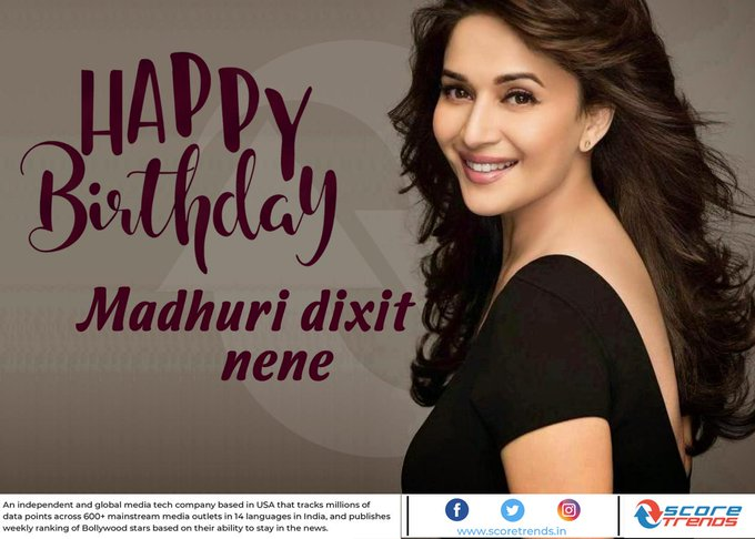 Score Trends wishes Madhuri Dixit Nene a Happy Birthday!!