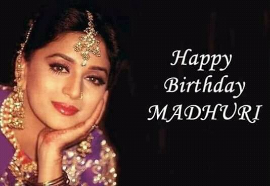 Happy birthday madhuri dixit ji.