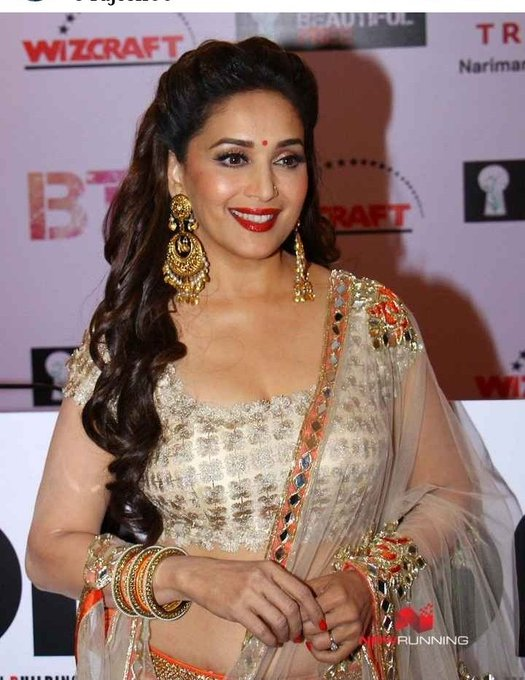Happy birthday Madhuri Dixit jii  You are a beautiful actress in your age and now